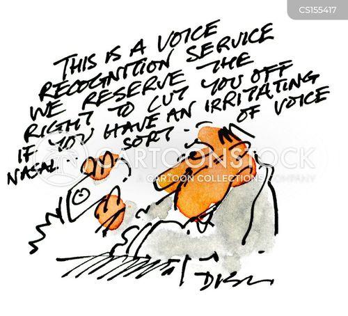 voice recognition cartoon