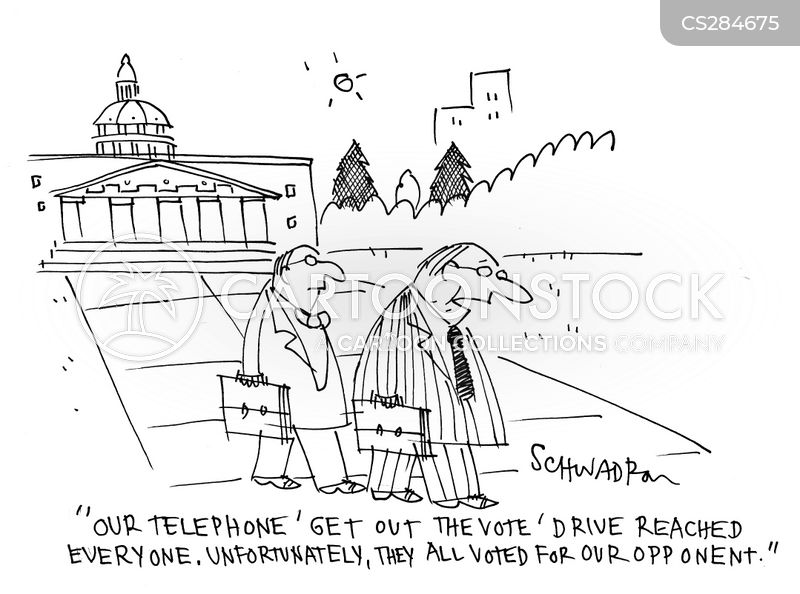 voter drives cartoon