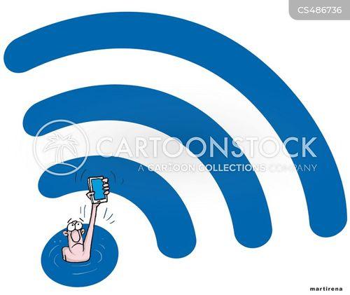wireless signal cartoon