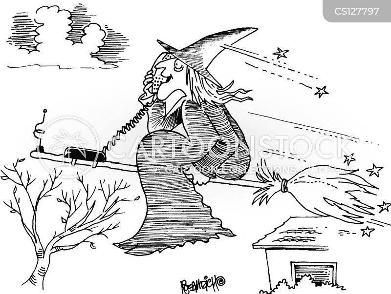 witches broomstick cartoon