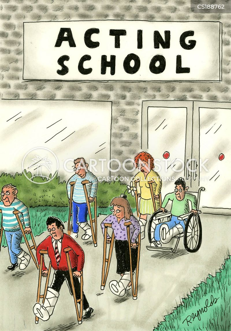 broken legs cartoon