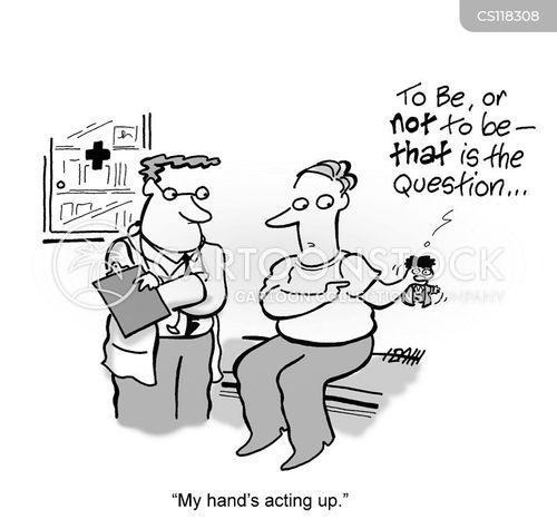 acting up cartoon