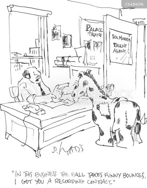 recording contracts cartoon