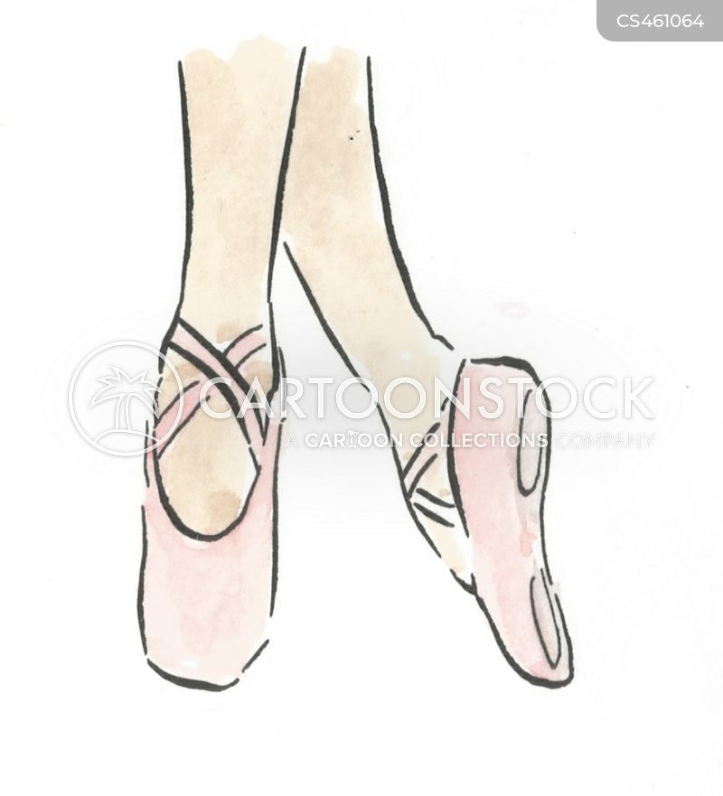 ballet shoes cartoons and comics funny pictures from cartoonstock rh cartoonstock com Pointe Shoes Silhouette Ballerina On Pointe