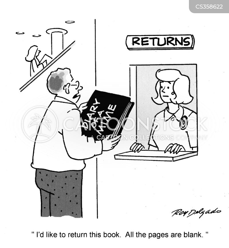 blank pages cartoon