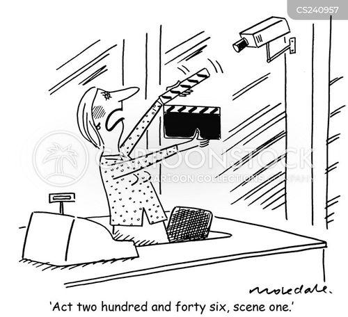 shop workers cartoon