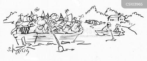 row-boats cartoon