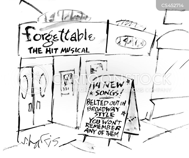 broadway show cartoon