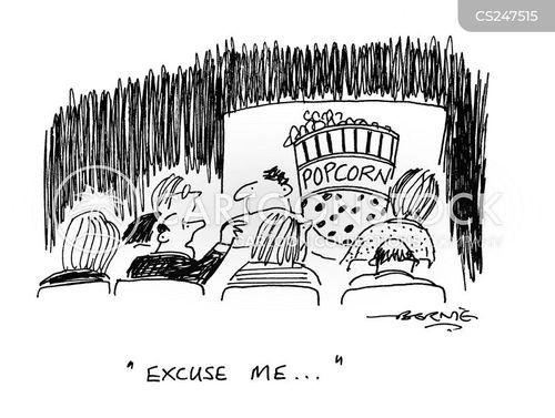 front row cartoon