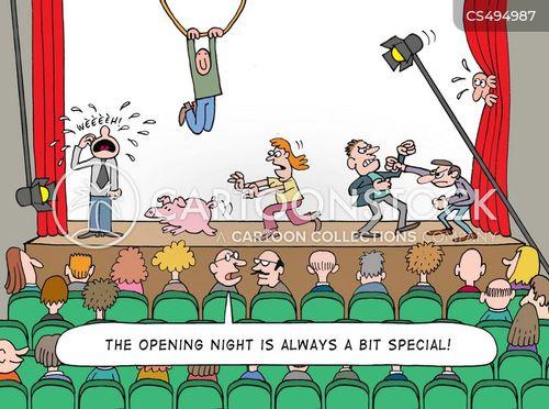 dress rehearsals cartoon