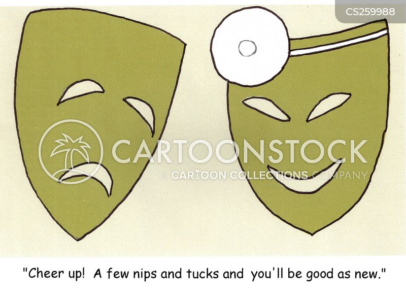 theater masks cartoon
