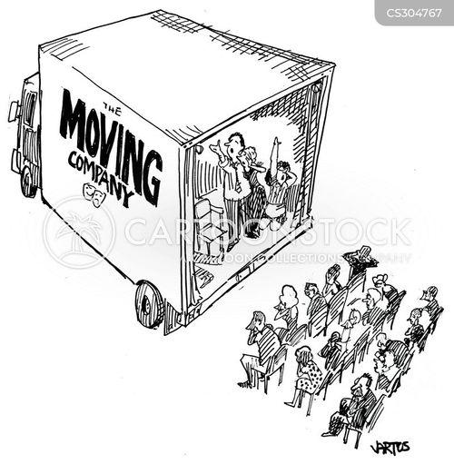 removal van cartoon
