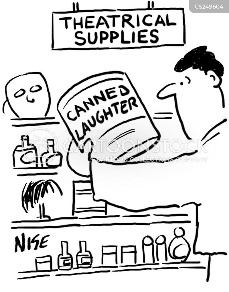 canned laughter cartoon