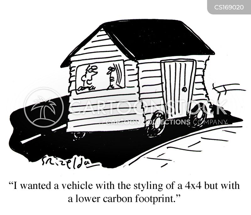 carbon emission cartoon