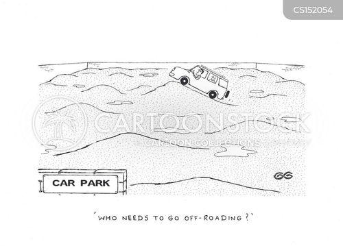 off-roading cartoon