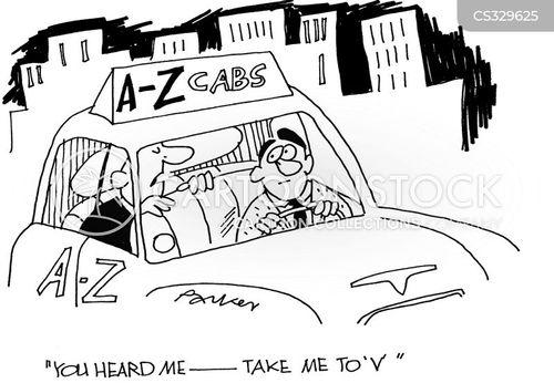 driving cars cartoon