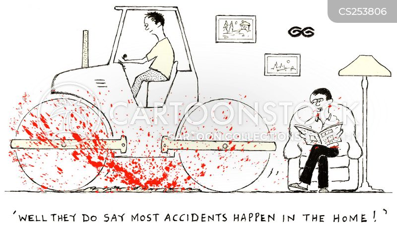 hit and run cartoon