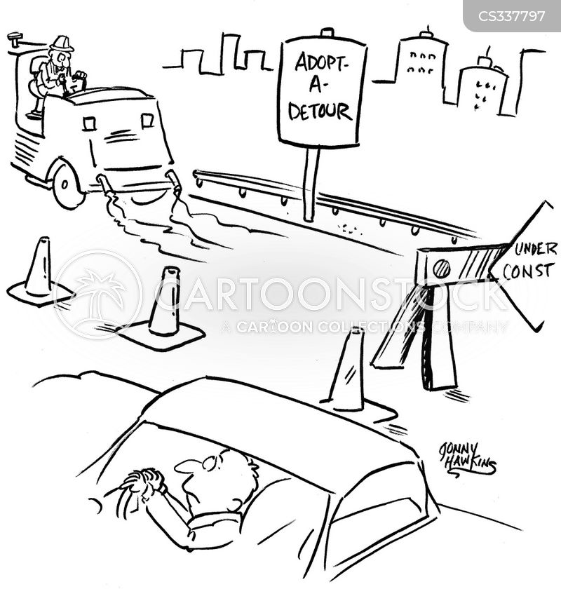 freeway signs cartoon