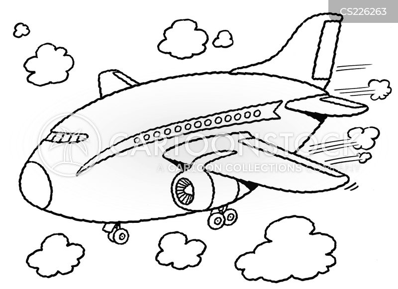 passenger planes cartoon
