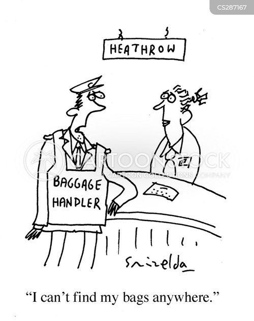 baggage handlers cartoon