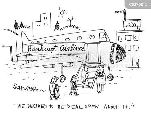 bankrupt airlines cartoon