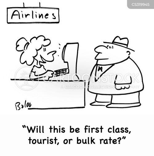 economy seat cartoon