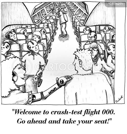 airline safety cartoon