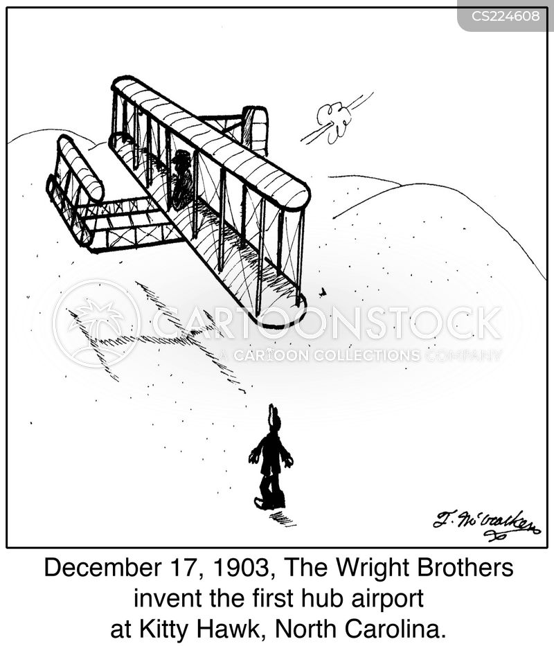wright brothers cartoon