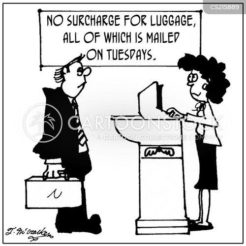 discount airline cartoon