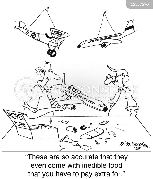 airline meals cartoon