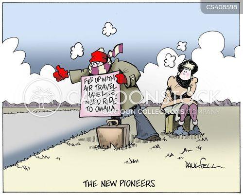 air-travel cartoon