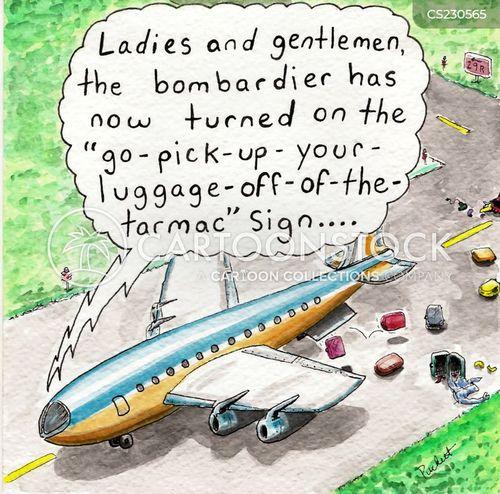 baggage claim cartoon