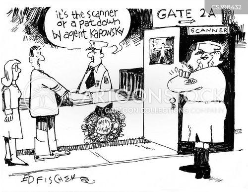 pat down cartoon
