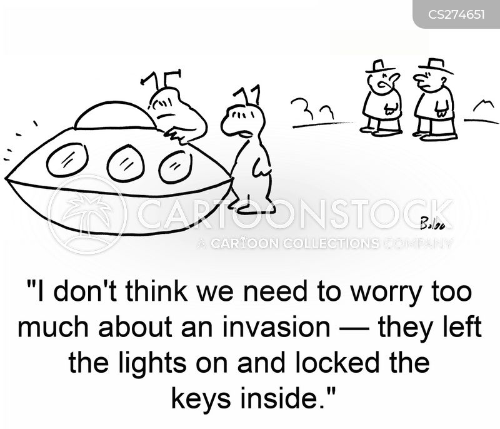 locking up cartoon