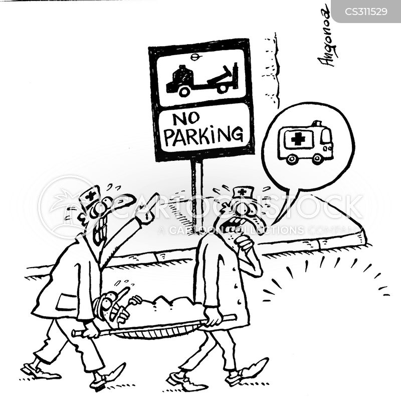 no-parking zone cartoon
