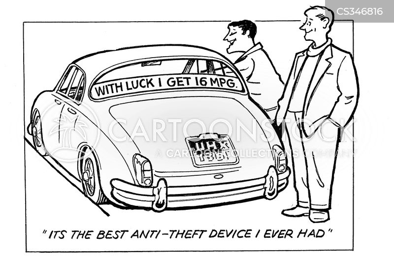 car alarms cartoon