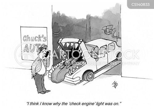 auto garage cartoon