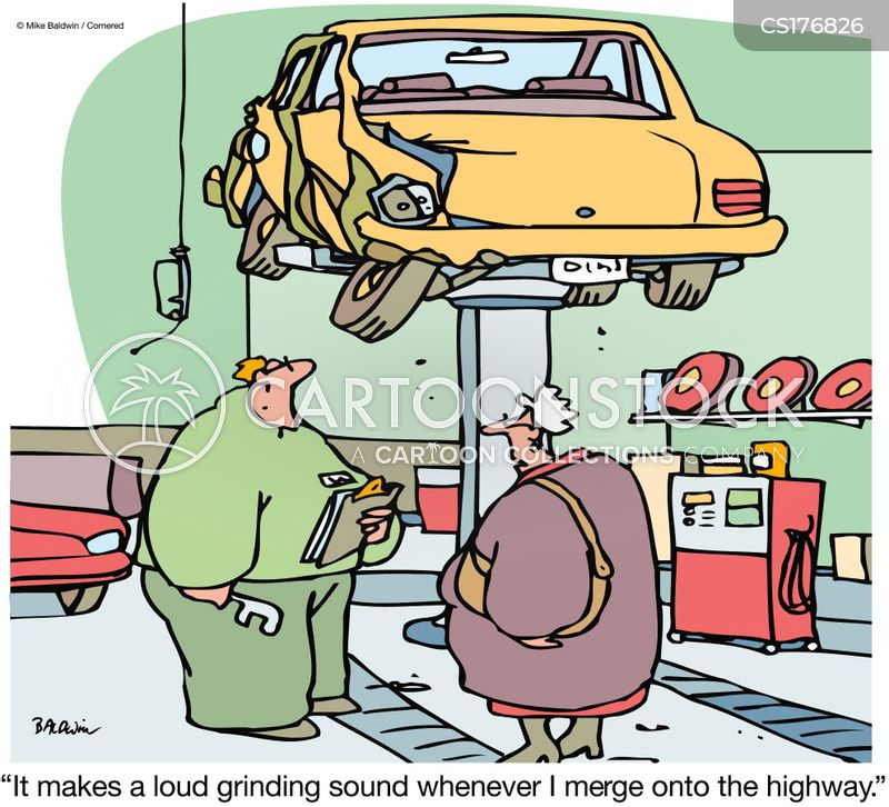 service station cartoon