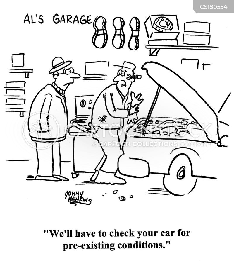 engine problems cartoon