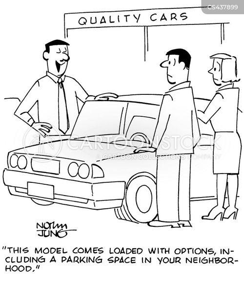 car buyer cartoon