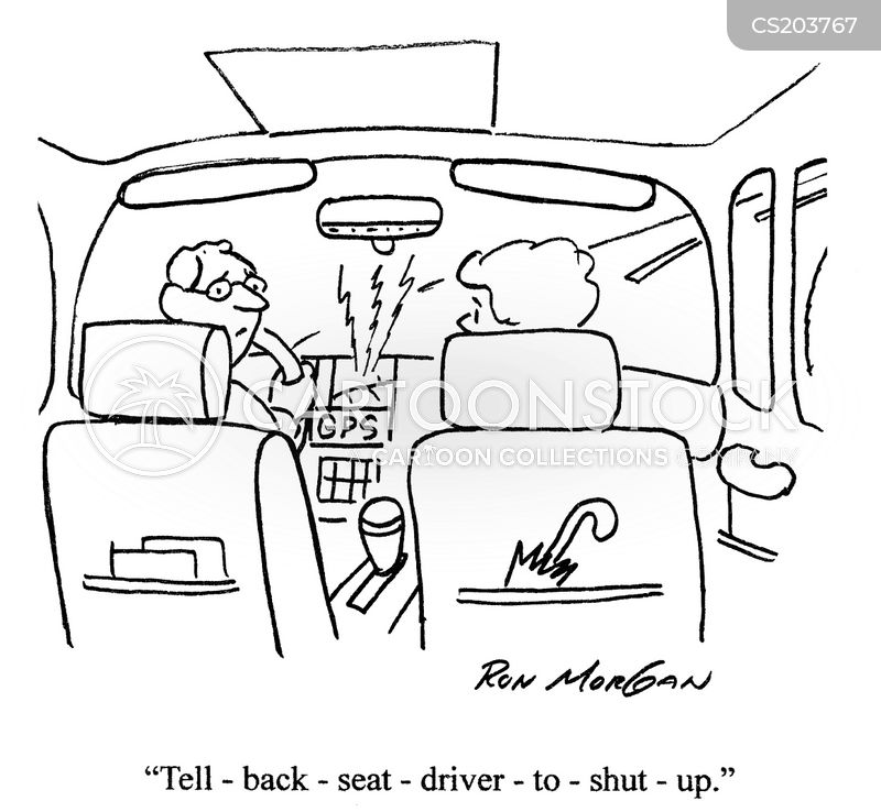 sat-nav cartoon