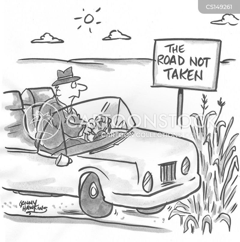 bad roads cartoon
