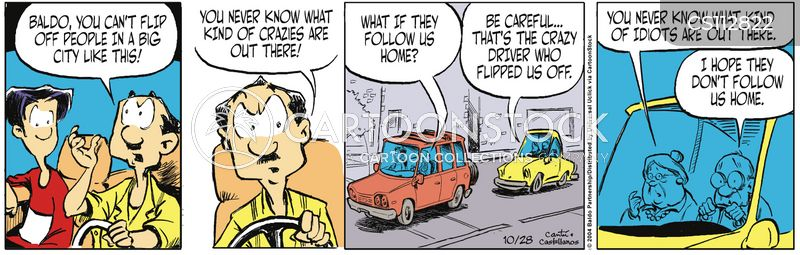 crazy drivers cartoon