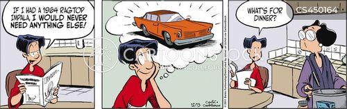 car nuts cartoon