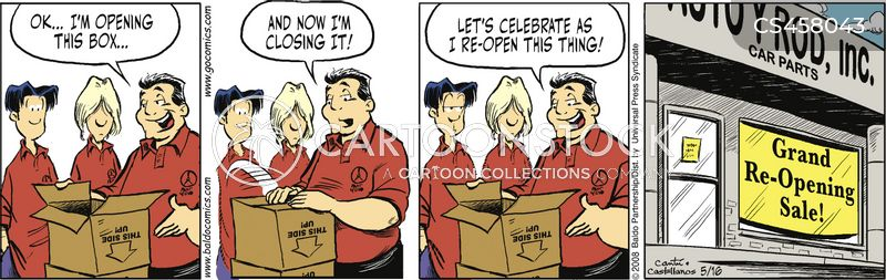 reopening sale cartoon