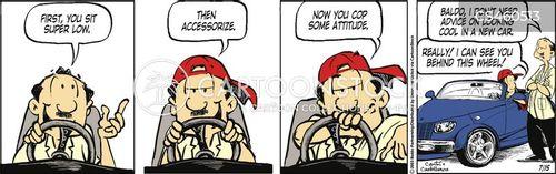 distrusting cartoon