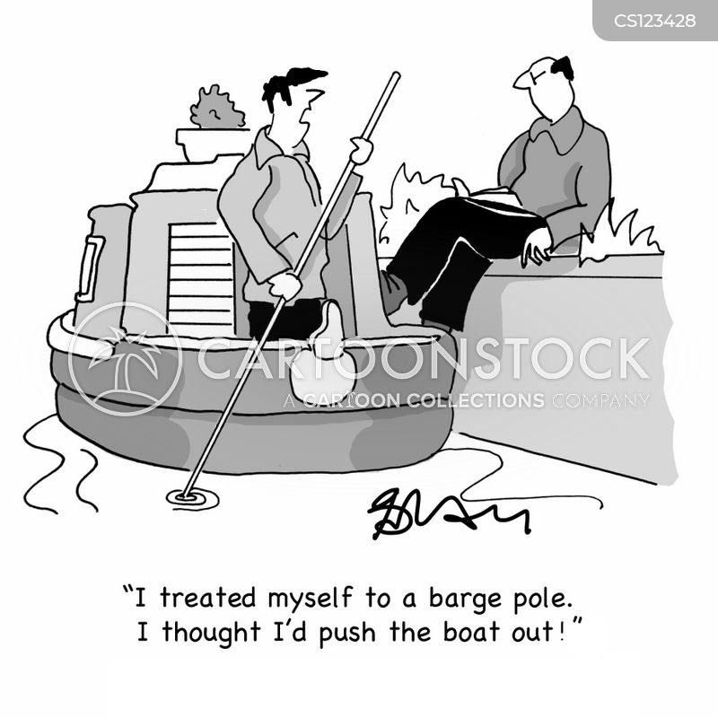 barge boat cartoon