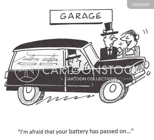 car batteries cartoon