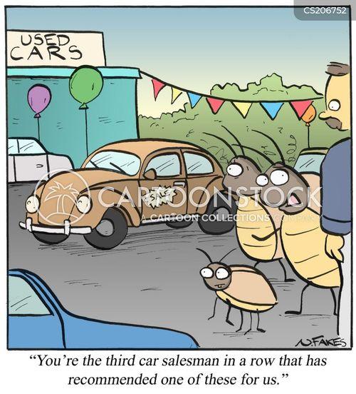 auto dealerships cartoon