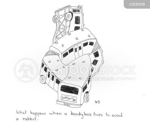 bendy buses cartoon